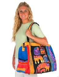 Laurel Burch Fantastic Feline Totem Travel Bag Overnighter