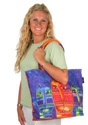 Laurel Burch Three Amigos Shoulder Tote Bag
