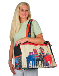 Laurel Burch Eta & Friends Overnight Travel Tote Bag