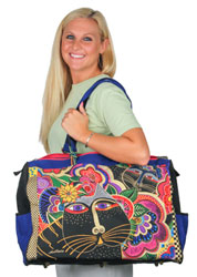 Laurel Burch Carlotta's Cats Travel Overnighter Tote