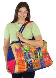 Laurel Burch Long Neck Cats Travel Bag LB5610