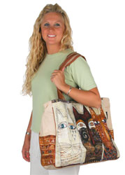 Laurel Burch Ancestral Cats Oversized Tote
