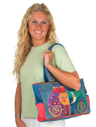 Laurel Burch Celestial Felines Medium Tote Bag