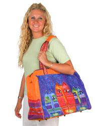 Laurel Burch Three Amigos Travel Tote Bag