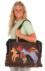 Laurel Burch Native Horses Travel Bag