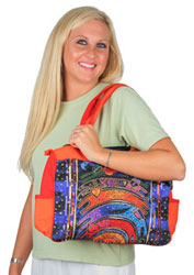Laurel Burch Once in a Blue Moon Medium Tote